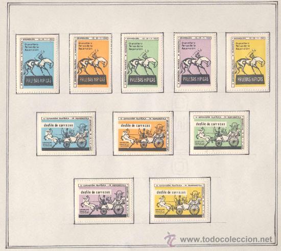 1958.- VIÑETAS EXPOSICIÓN FILATELICA DE GRANOLLERS.JUEGO COMPLETO DE 10 COLECCIONES (Sellos - Temáticas - Varias)