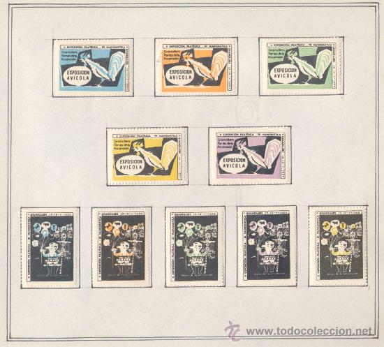 Sellos: 1958.- VIÑETAS EXPOSICIÓN FILATELICA DE GRANOLLERS.JUEGO COMPLETO DE 10 COLECCIONES - Foto 3 - 19438116