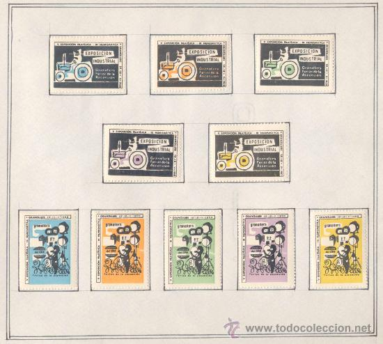 Sellos: 1958.- VIÑETAS EXPOSICIÓN FILATELICA DE GRANOLLERS.JUEGO COMPLETO DE 10 COLECCIONES - Foto 4 - 19438116