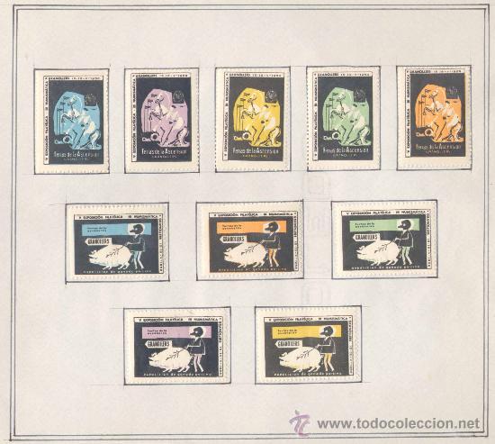 Sellos: 1958.- VIÑETAS EXPOSICIÓN FILATELICA DE GRANOLLERS.JUEGO COMPLETO DE 10 COLECCIONES - Foto 5 - 19438116