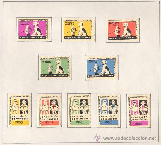 Sellos: 1957.- VIÑETAS EXPOSICIÓN FILATELICA DE GRANOLLERS.JUEGO COMPLETO DE 10 COLECCIONES - Foto 3 - 19438164