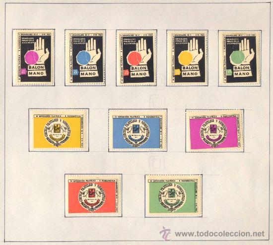 Sellos: 1957.- VIÑETAS EXPOSICIÓN FILATELICA DE GRANOLLERS.JUEGO COMPLETO DE 10 COLECCIONES - Foto 4 - 19438164