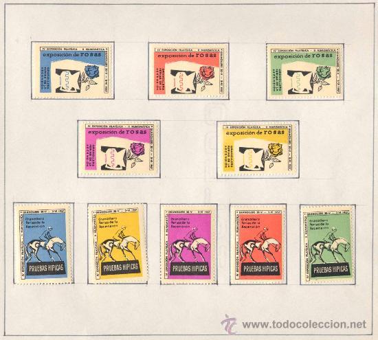 Sellos: 1957.- VIÑETAS EXPOSICIÓN FILATELICA DE GRANOLLERS.JUEGO COMPLETO DE 10 COLECCIONES - Foto 5 - 19438164