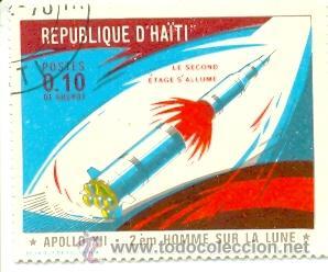 HAITI-677. SELLO USADO HAITI. YVERT Nº 677. APOLO XII (Sellos - Extranjero - América - Otros paises)