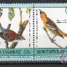 Sellos: MONTSERRAT AÑO 1985 YV 590/95*** BICENTº NACIMIENTO DE J.J. AUDUBON - AVES - FAUNA - NATURALEZA. Lote 21446408
