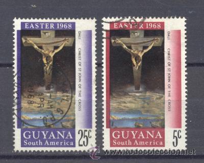 GUAYANA, 1968- CRISTO DE ST. JOHN EN LA CRUZ (Sellos - Extranjero - América - Otros paises)