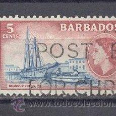 Sellos: BARBADOS-1953, USADO- SIN CHARNELA. Lote 21905588