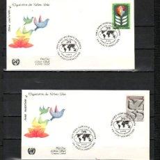 Sellos: NACIONES UNIDAS VIENA 12/3 PRIMER DIA, 35º ANIVERSARIO DE LA ORGANIZACION DE LAS NN.UU.. Lote 22478088