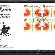 Sellos: NACIONES UNIDAS VIENA 11 EN B4 PRIMER DIA, OPERACIONES DE LAS NN.UU. PARA MANTENIMIENTO DE LA PAZ . Lote 22478104