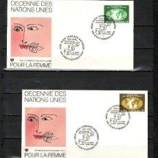 Sellos: NACIONES UNIDAS VIENA 9/10 PRIMER DIA, DECADA DE LAS NN.UU. POR LA MUJER. Lote 22478145