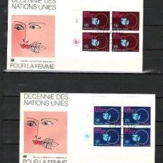 Sellos: NACIONES UNIDAS GINEBRA 89/90 EN B4 PRIMER DIA, DECADA DE LAS NN. UU. POR LA MUJER . Lote 23806343
