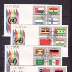 Sellos: NACIONES UNIDAS NUEVA YORK 440/55 PRIMER DIA, BANDERAS DE LOS ESTADOS MIEMBROS DE LAS NN.UU. . Lote 23806345