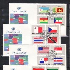 Sellos: NACIONES UNIDAS NUEVA YORK 341/56 PRIMER DIA, BANDERAS DE LOS ESTADOS MIEMBROS DE LAS NN.UU.. Lote 22497956