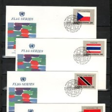 Briefmarken - naciones unidas nueva york 341/56 primer dia, banderas de los estados miembros de las nn.uu. - 22497962