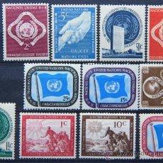 Sellos: ONU NACIONES UNIDAS NEW YORK YVERT: 1-11 AÑO 1951 .........NU-01. Lote 26533341