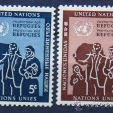 Sellos: ONU NACIONES UNIDAS NEW YORK YVERT: 15-16 AÑO 1953 .........NU-04. Lote 26779627