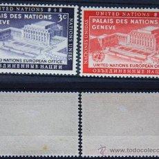 Sellos: ONU NACIONES UNIDAS NEW YORK YVERT: 25-26 AÑO 1954 .........NU-09. Lote 26745847