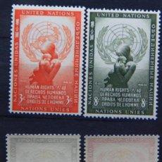 Sellos: ONU NACIONES UNIDAS NEW YORK YVERT: 29-30 AÑO 1954 .........NU-11. Lote 26745854