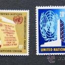 Sellos: ONU NACIONES UNIDAS NEW YORK YVERT: 141-144 AÑO 1965 .........NU-18. Lote 22533754