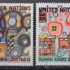Sellos: ONU NACIONES UNIDAS NEW YORK YVERT: 406-407 AÑO 1983 .........NU-21. Lote 26936393