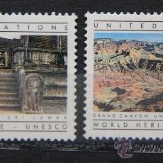 Sellos: ONU NACIONES UNIDAS NEW YORK YVERT: 412-413 AÑO 1984 .........NU-23. Lote 22533899