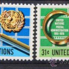 Sellos: ONU NACIONES UNIDAS NEW YORK YVERT: 269-270 AÑO 1976 .........NU-25. Lote 26936394