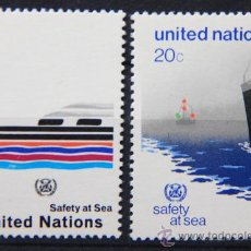 Sellos: ONU NACIONES UNIDAS NEW YORK YVERT: 385-386 AÑO 1983 .........NU-26. Lote 22567140