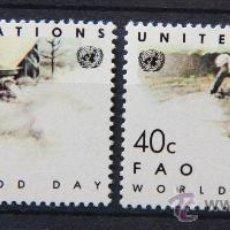 Sellos: ONU NACIONES UNIDAS NEW YORK YVERT: 410-411 AÑO 1984 .........NU-28. Lote 22567199