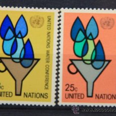 Sellos: ONU NACIONES UNIDAS NEW YORK YVERT: 275-276 AÑO 1977 .........NU-94. Lote 22591883