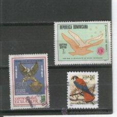 Sellos: LOTE. SELLOS. PAJAROS. USA. ECUADOR. REPUBLICA DOMINICANA. . Lote 22603044