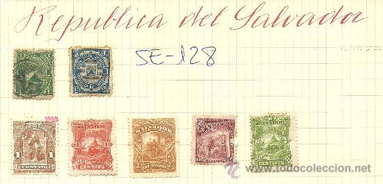 (SE-128)LOTE DE SELLOS DE REPUBLICA DEL SALVADOR (Sellos - Extranjero - América - Otros paises)