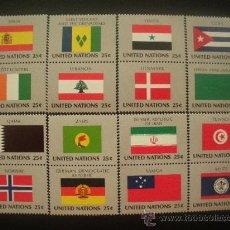 Sellos: NACIONES UNIDAS NUEVA YORK 1988 IVERT 521/36 *** BANDERAS DE PAISES MIEMBROS DE LA ONU (IX). Lote 23461639