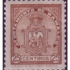 Timbres: TIMBRE MUNICIPAL RAMALES (CANTABRIA), 25 CTS CASTAÑO * *. Lote 23408180