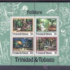 Sellos: TRINIDAD & TOBAGO HB 35 SIN CHARNELA, FOLKLORE, . Lote 23878041