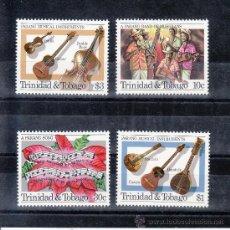 Sellos: TRINIDAD & TOBAGO 514/7 SIN CHARNELA, MUSICA, NAVIDAD, GUITARRA, . Lote 33735046