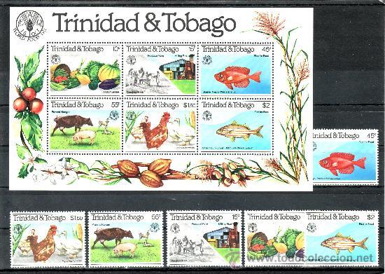 TRINIDAD & TOBAGO 439/44, HB 34 SIN CHARNELA, DIA MUNDIAL DE LA ALIMENTACION, F.A.O., (Sellos - Extranjero - América - Otros paises)