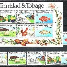Sellos: TRINIDAD & TOBAGO 439/44, HB 34 SIN CHARNELA, DIA MUNDIAL DE LA ALIMENTACION, F.A.O., . Lote 23903910