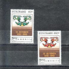 Sellos: SURINAM 1268/9 SIN CHARNELA, TEMA UPAEP, V CENTENARIO DEL DESCUBRIMIENTO DE AMERICA. Lote 24162988