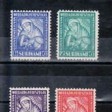 Sellos: SURINAM 131/4 SIN CHARNELA, ENFERMERA, FUNDACION GOBERNADOR HEEMSTRA. Lote 24182962