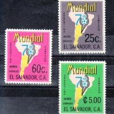 Sellos: SALVADOR (EL) A 406/8 SIN CHARNELA, DEPORTE, ARGENTINA 78, COPA DEL MUNDO DE FUTBOL. Lote 24339981