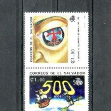 Sellos: SALVADOR (EL) 1154A/D SIN CHARNELA, EXPO 92 SEVILLA, V CENTº DESCUBRIMIENTO AMERICA POR C. COLON. Lote 294386653