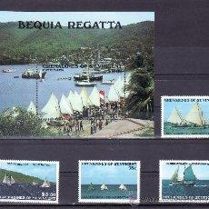 Sellos: SAN VICENTE-GRENADINES 538/41, HB 21 SIN CHARNELA, DEPORTE NAUTICOS, REGATA DE BEQUIA. Lote 24319023