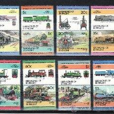 Sellos: SAN VICENTE-GRENADINES 335/50 SIN CHARNELA, FF.CC., FERROCARRIL, LOCOMOTORA, . Lote 24319244