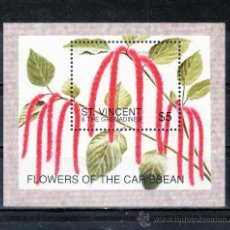 Stamps - san vicente hb 336 sin charnela, flores del caribe - 24319516