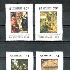 Sellos: SAN VICENTE 1585/8 SIN CHARNELA, NAVIDAD, PINTURA, . Lote 24319567
