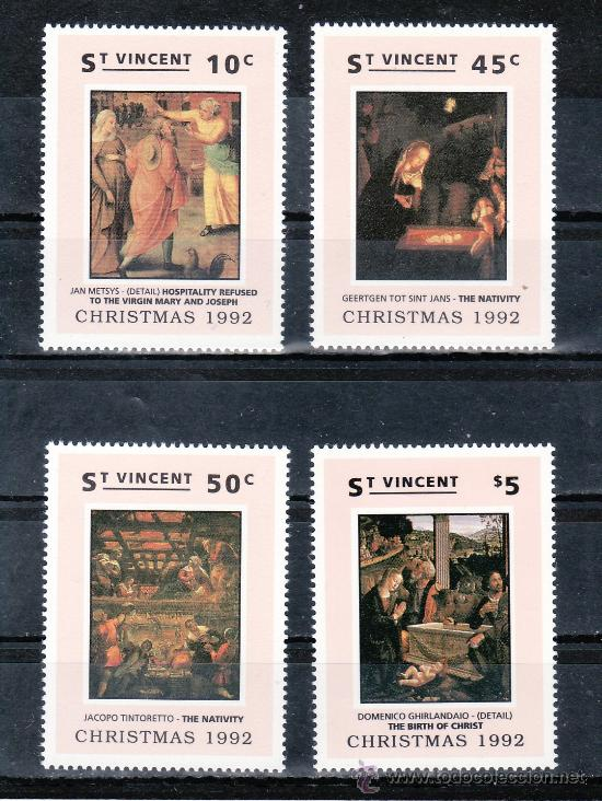 SAN VICENTE 1561/4 SIN CHARNELA, NAVIDAD, PINTURA, (Sellos - Extranjero - América - Otros paises)