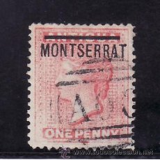 Sellos: MONTSERRAT 6 USADA, SOBRECARGADO, . Lote 24718786