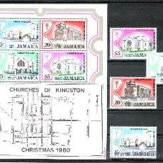 Sellos: JAMAICA 500/3, HB 15 SIN CHARNELA, IGLESIAS DE KINGSTON . Lote 24964461