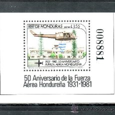 Sellos: HONDURAS HB 32 SIN CHARNELA, 50º ANIVERSARIO DE LAS FUERZAS AEREAS DE HONDURAS, . Lote 25265287