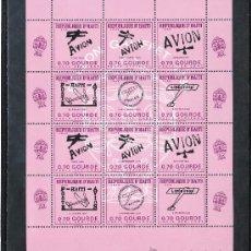 Sellos: HAITI HB 25 SIN CHARNELA, AVION, GLOBO GALIFFET, . Lote 25266894